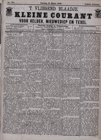 Vliegend blaadje : nieuws- en advertentiebode voor Den Helder 1880-03-23