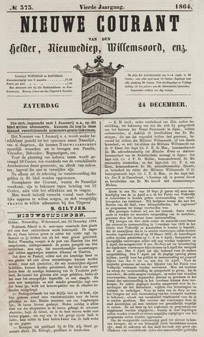 Nieuwe Courant van Den Helder 1864-12-24