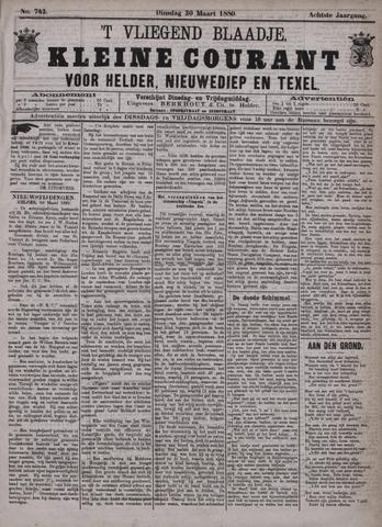 Vliegend blaadje : nieuws- en advertentiebode voor Den Helder 1880-03-30
