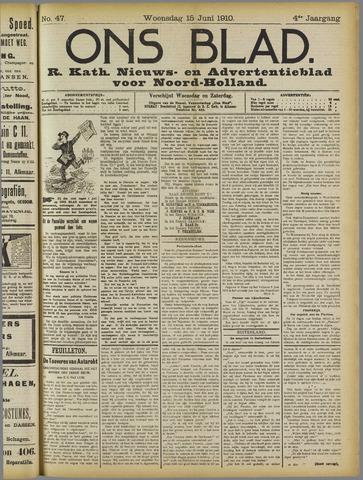 Ons Blad : katholiek nieuwsblad voor N-H 1910-06-15
