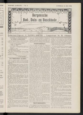 Bergensche bad-, duin- en boschbode 1918-07-13