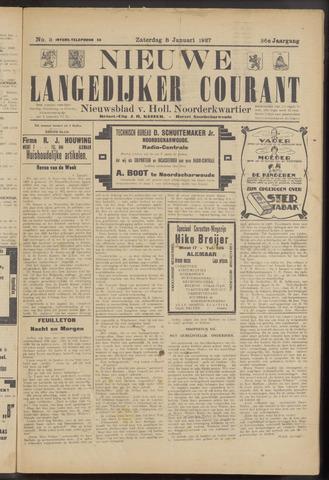 Nieuwe Langedijker Courant 1927-01-08