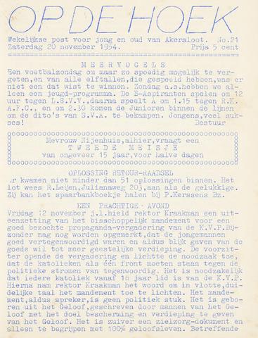Op De Hoek, weekblad voor Akersloot 1954-11-20