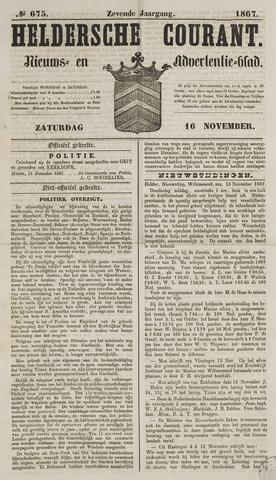 Heldersche Courant 1867-11-16