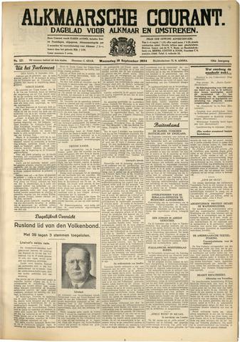 Alkmaarsche Courant 1934-09-19