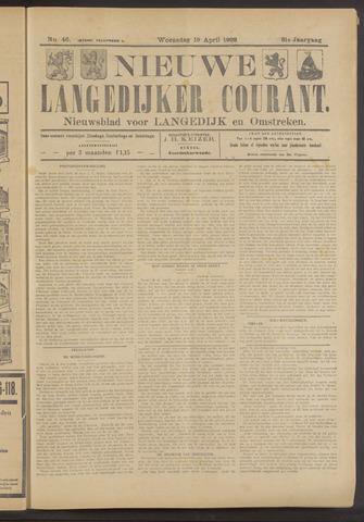 Nieuwe Langedijker Courant 1922-04-19