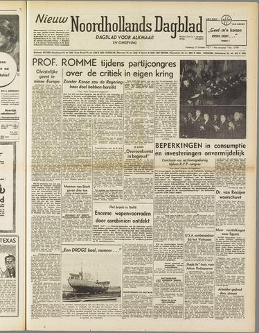 Nieuw Noordhollandsch Dagblad : voor Alkmaar en omgeving 1951-10-22