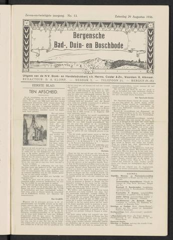 Bergensche bad-, duin- en boschbode 1936-08-29