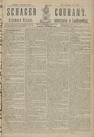Schager Courant 1911-11-07