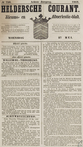 Heldersche Courant 1868-05-27