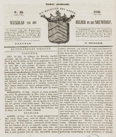 Weekblad van Den Helder en het Nieuwediep 1846-09-28