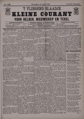 Vliegend blaadje : nieuws- en advertentiebode voor Den Helder 1884-04-30