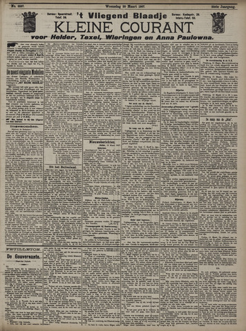 Vliegend blaadje : nieuws- en advertentiebode voor Den Helder 1907-03-20