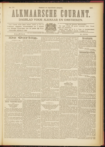 Alkmaarsche Courant 1917-06-11