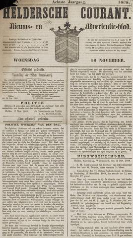 Heldersche Courant 1868-11-18