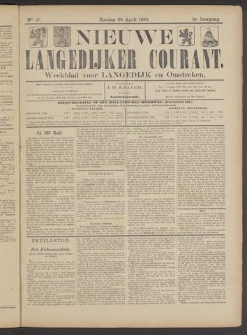 Nieuwe Langedijker Courant 1894-04-29