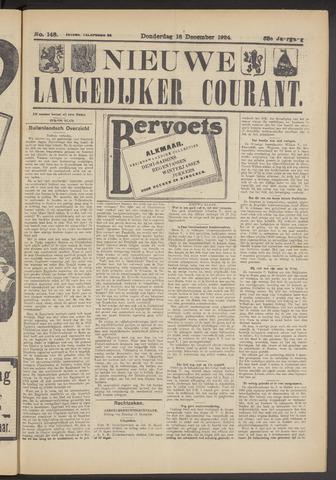 Nieuwe Langedijker Courant 1924-12-18