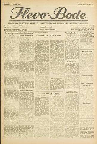 Flevo-bode: nieuwsblad voor Wieringen-Wieringermeer 1947-10-22