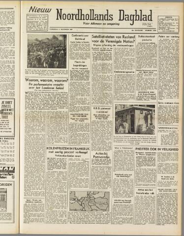 Nieuw Noordhollandsch Dagblad : voor Alkmaar en omgeving 1947-11-06
