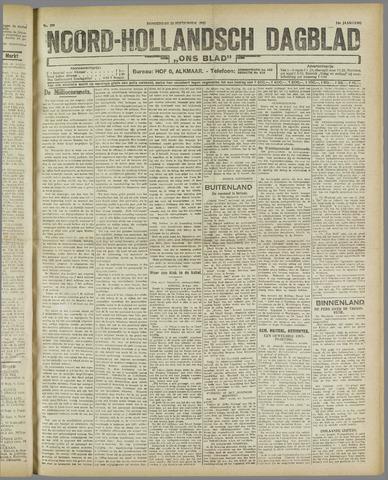 Ons Blad : katholiek nieuwsblad voor N-H 1921-09-22