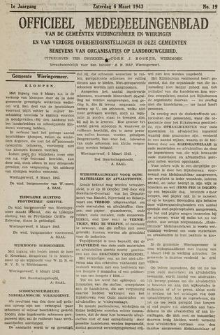 Mededeelingenblad Wieringermeer en Wieringen 1943-03-06