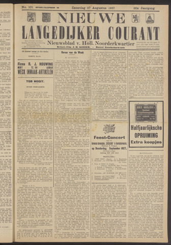 Nieuwe Langedijker Courant 1927-08-27