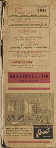 Adresboek van Alkmaar 1958-01-01