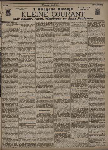 Vliegend blaadje : nieuws- en advertentiebode voor Den Helder 1908-04-08
