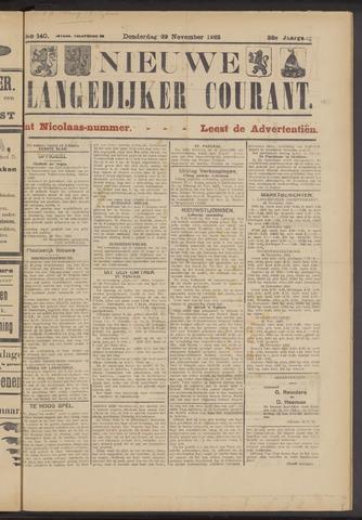 Nieuwe Langedijker Courant 1923-11-29