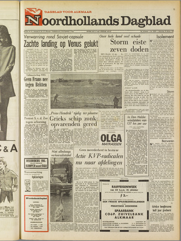 Noordhollands Dagblad : dagblad voor Alkmaar en omgeving 1967-10-18