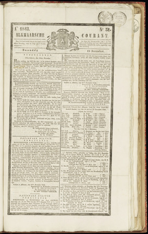 Alkmaarsche Courant 1843-12-18