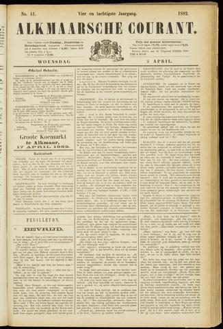 Alkmaarsche Courant 1882-04-05