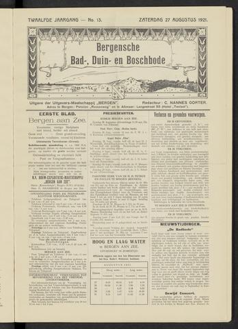Bergensche bad-, duin- en boschbode 1921-08-27