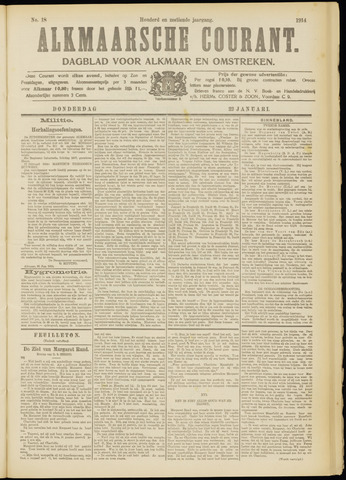 Alkmaarsche Courant 1914-01-22