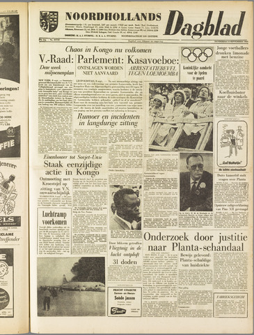 Noordhollands Dagblad : dagblad voor Alkmaar en omgeving 1960-09-08