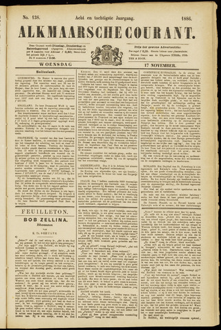 Alkmaarsche Courant 1886-11-17
