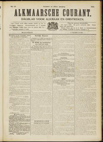 Alkmaarsche Courant 1909-02-01