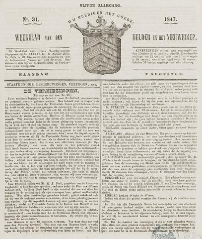 Weekblad van Den Helder en het Nieuwediep 1847-08-02