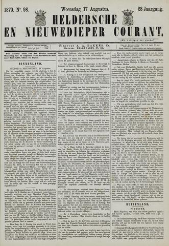 Heldersche en Nieuwedieper Courant 1870-08-17