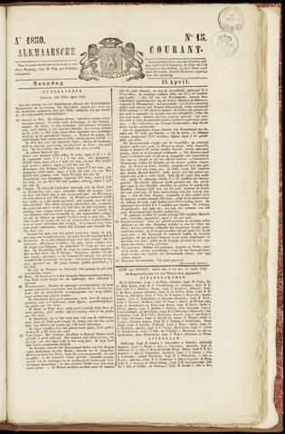 Alkmaarsche Courant 1850-04-15