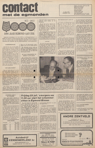 Contact met de Egmonden 1976-07-21