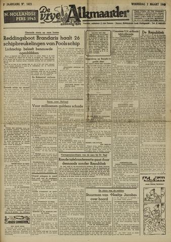 De Vrije Alkmaarder 1949-03-02