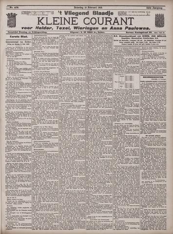 Vliegend blaadje : nieuws- en advertentiebode voor Den Helder 1913-02-15