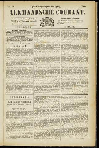Alkmaarsche Courant 1893-03-22