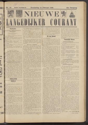 Nieuwe Langedijker Courant 1926-02-25