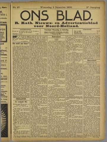 Ons Blad : katholiek nieuwsblad voor N-H 1908-12-02