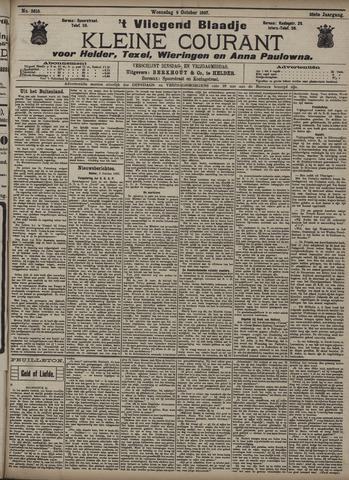 Vliegend blaadje : nieuws- en advertentiebode voor Den Helder 1907-10-09