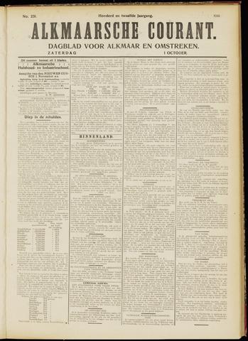 Alkmaarsche Courant 1910-10-01
