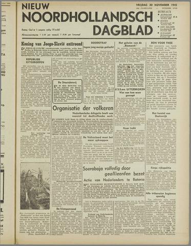 Nieuw Noordhollandsch Dagblad : voor Alkmaar en omgeving 1945-11-30