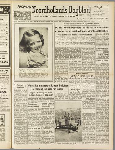 Nieuw Noordhollandsch Dagblad : voor Alkmaar en omgeving 1949-01-29